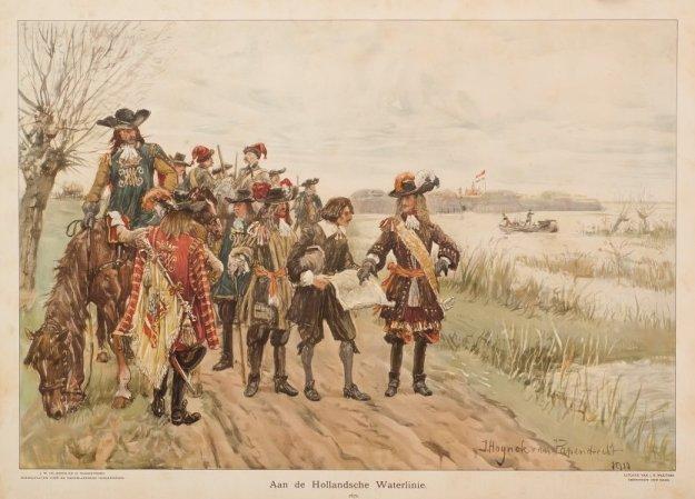 Schoolplaat aan de Hollandse Waterlinie 1672 zr