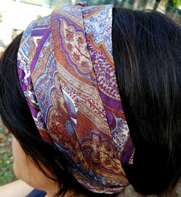 Fascia per capelli modello Samarcanda