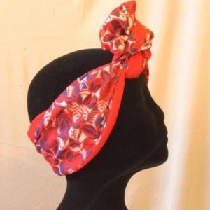 Fascia per capelli rossa modellabile anni 50