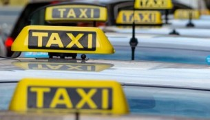 taxis at a taxi rank