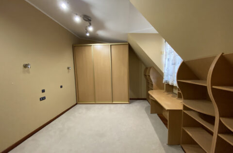 dressing room with wardrobe and shelfes