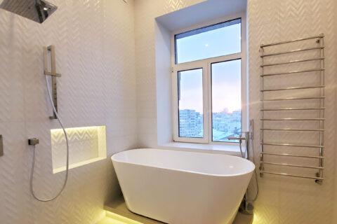 shower and bath tube