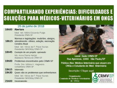 Compartilhando experiências: dificuldades e soluções para médicos-veterinários em ONGS
