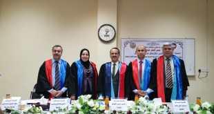 مناقشة طالب الماجستير عمر أنمار عبد الله في كلية الطب البيطري/جامعة الموصل