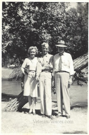 CPL Hubert B. Braden, Jr. with his parents, Hubert & Margaret Braden