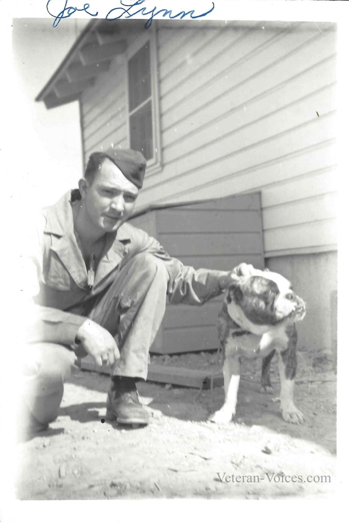 Ellery Joseph Lynn with his dog