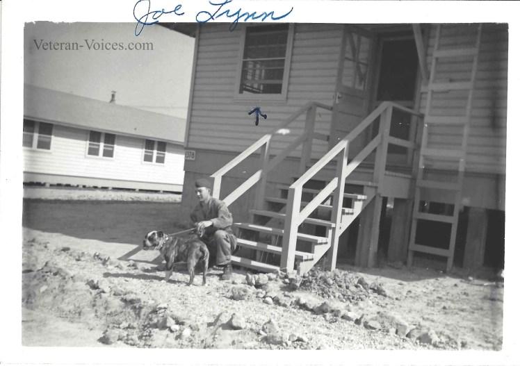 Ellery Joseph Lynn and his dog.