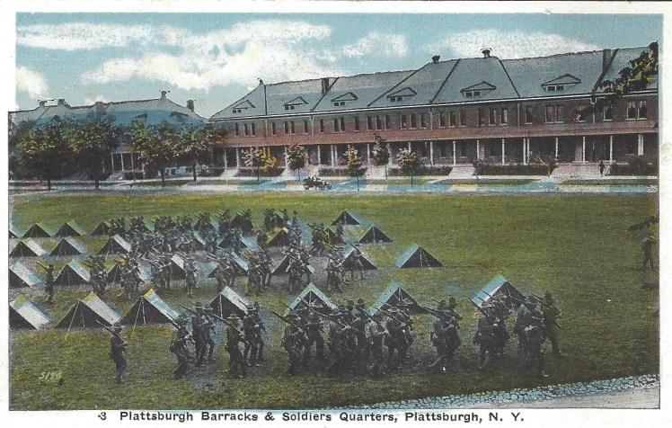 Plattsburgh Barracks Postcard