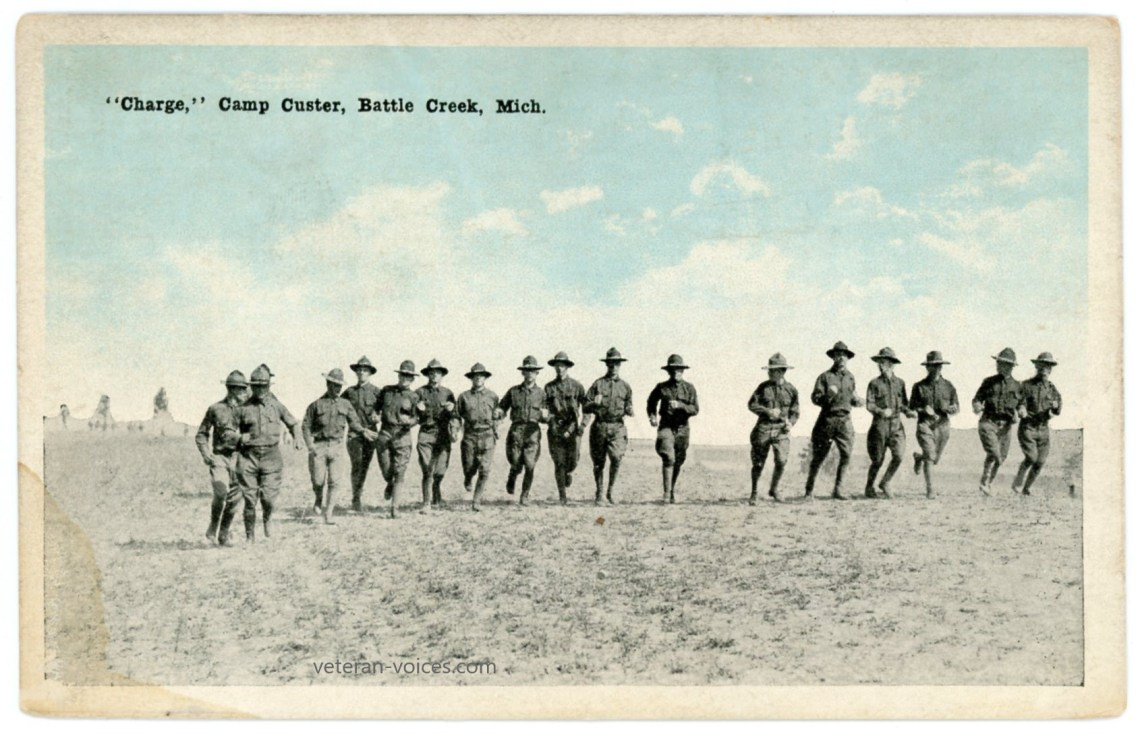 """Charge,"" Camp Custer, Battle Creek, Michigan, World War I"