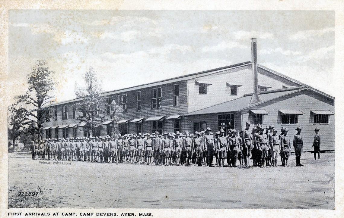 First Arrivals at Camp Devens