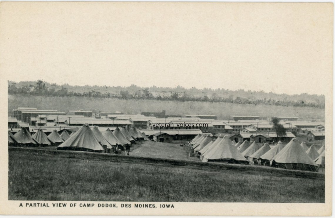 """A partial view of Camp Dodge, Des Moines, Iowa"" World War I"