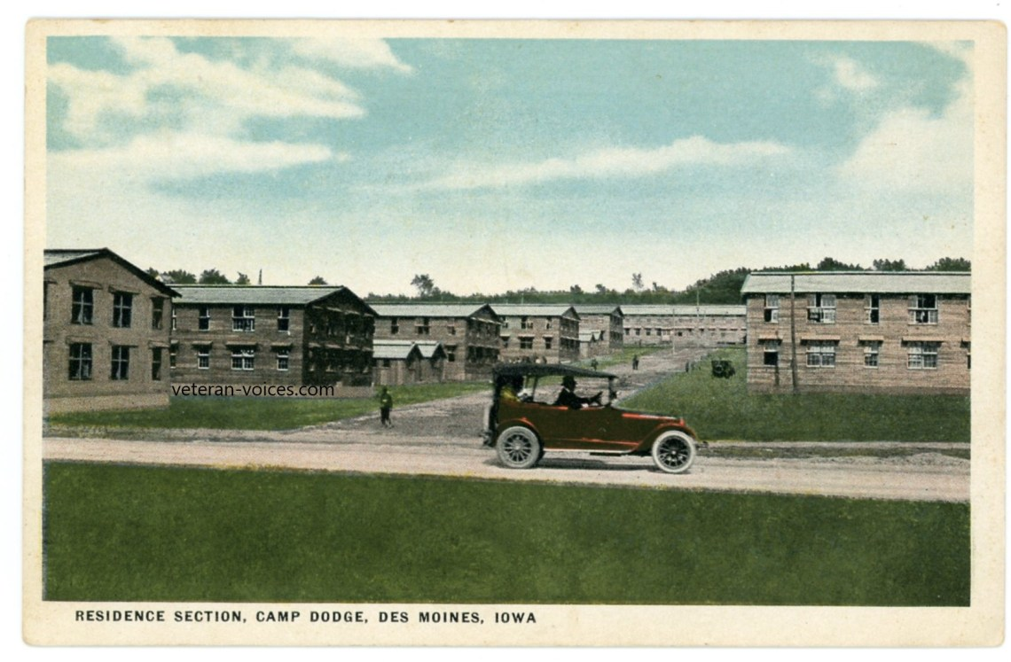 """Residence Section, Camp Dodge, Des Moines, Iowa"" World War I"