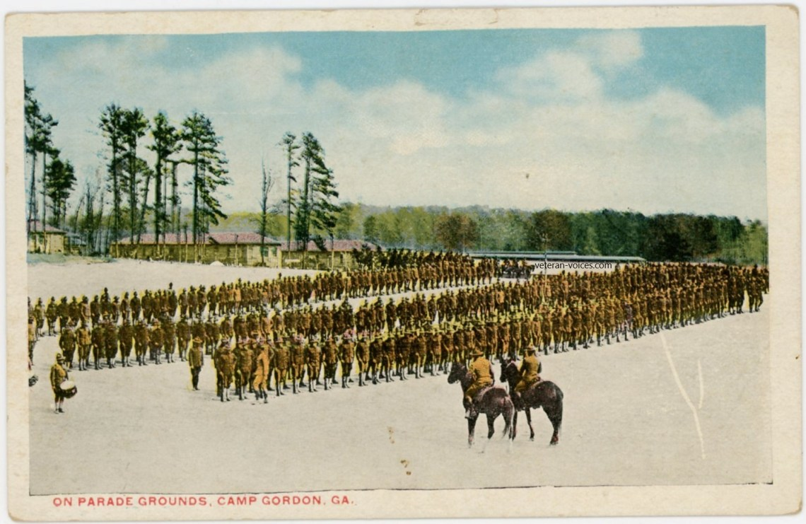 """Parade Grounds, Camp Gordon, Georgia"" World War I"