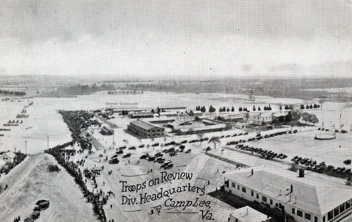 Troops on Review, Division Headquarters, Camp Lee, Virginia