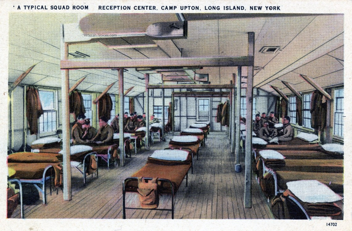 A Typical Squad Room - Camp Upton, New York