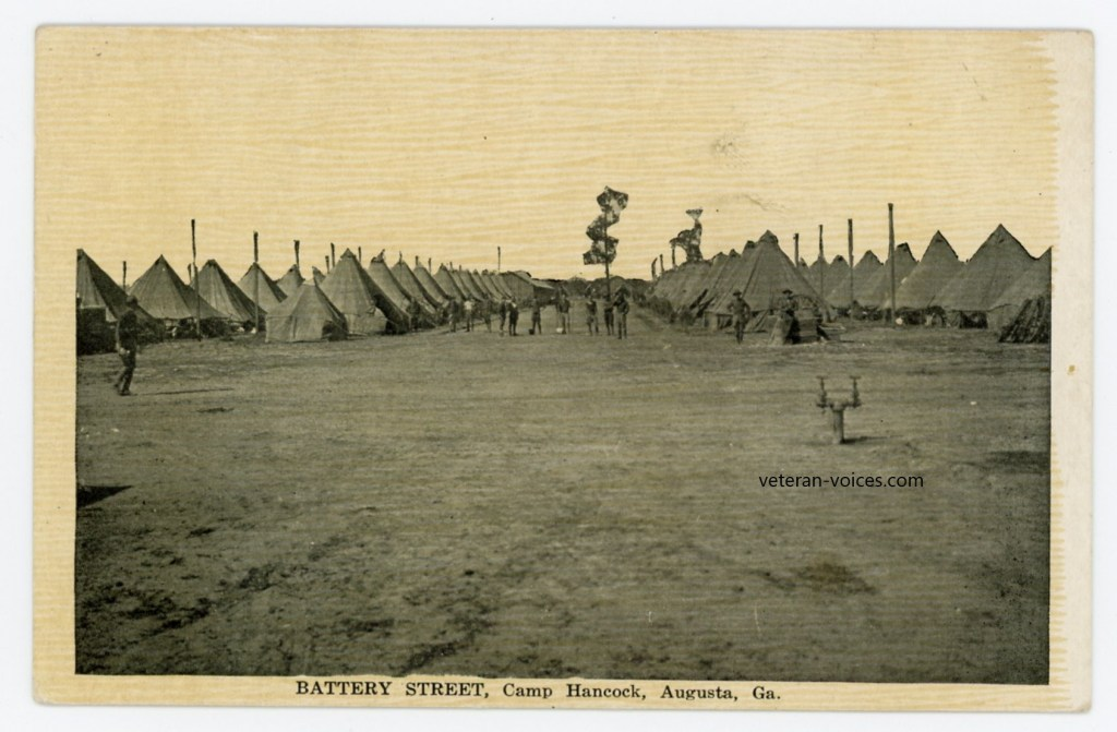 """Battery Street, Camp Hancock, Augusta, Georgia"""