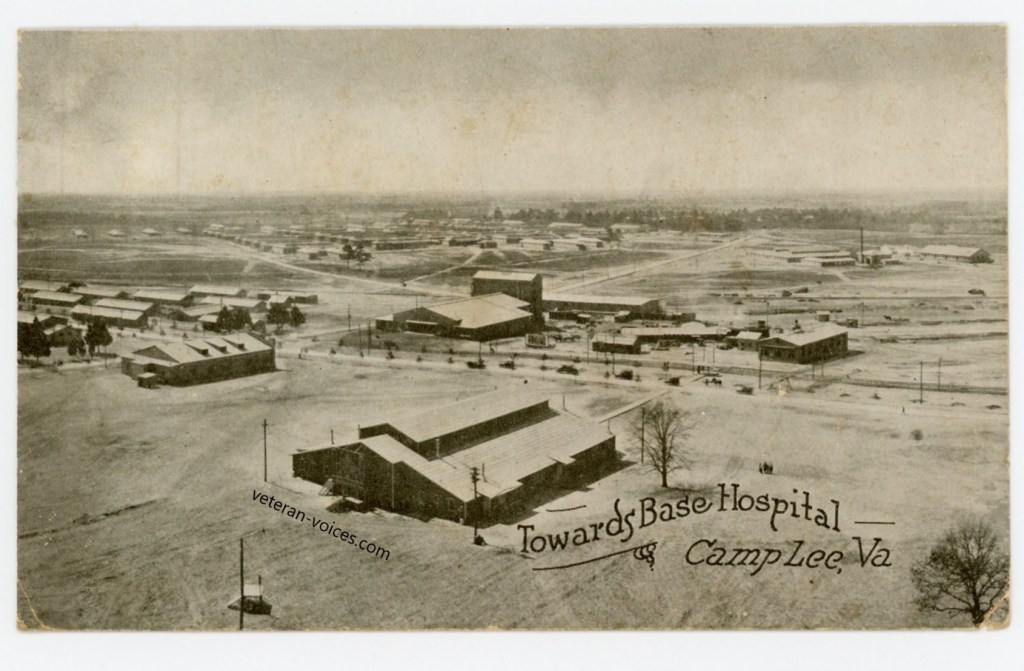"""Towards Base Hospital, Camp Lee, VA"""