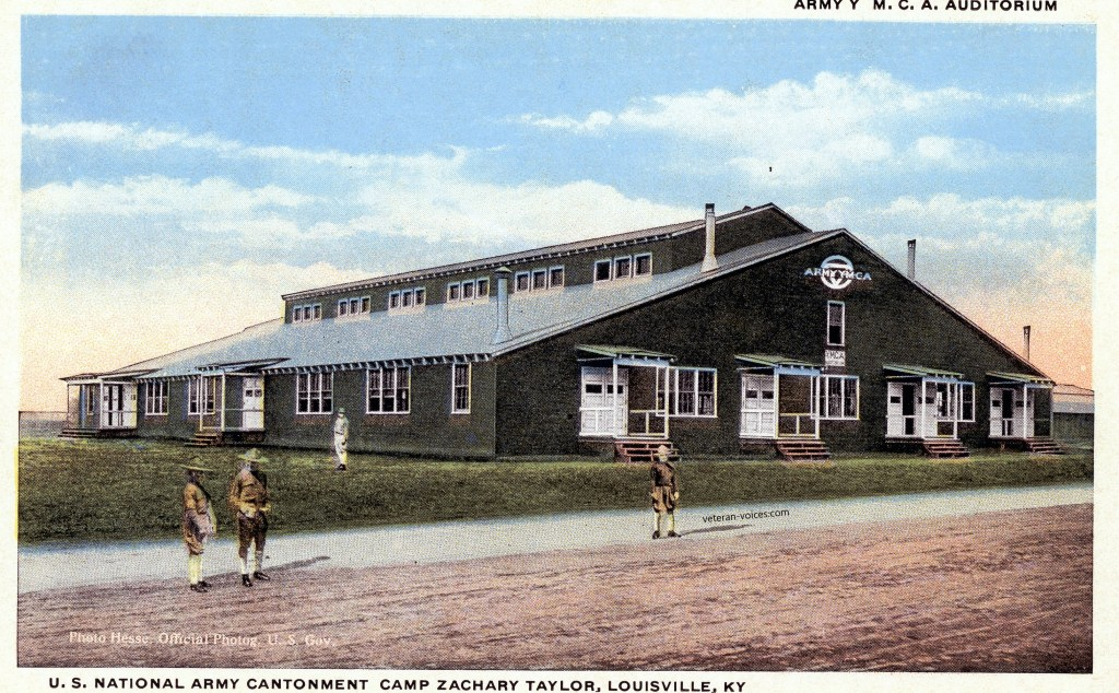 """Army Y.M.C.A. Auditorium - U.S. National Army Cantonment, Camp Zachary Taylor, Louisville, Kentucky"""