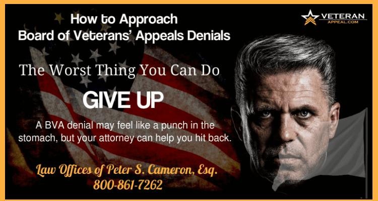 Veterans Appeals Denials