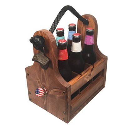 Beer Caddy with Magnetic Drop Catch