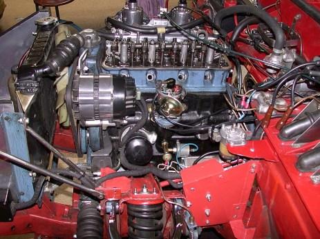 4 Zylinder Motorraum Detailansicht
