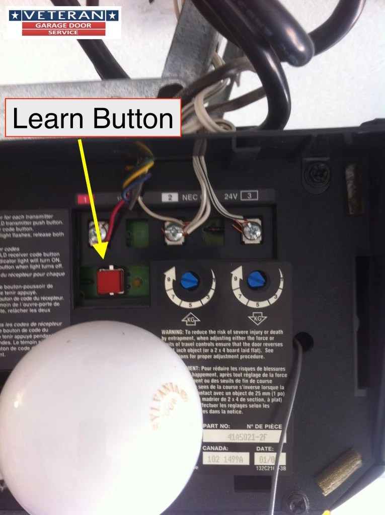 Image Result For What Is The Learnon On A Garage Door Opener