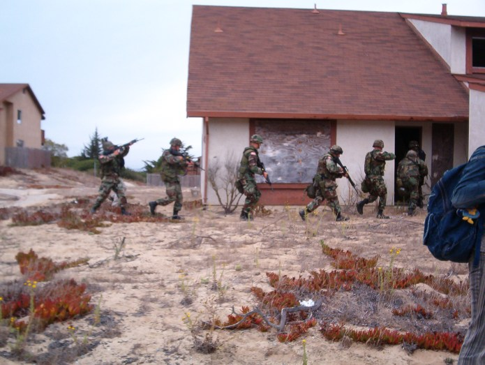 Soldiers training at Fort Ord, a former Army base in California closed in 1994 Author: Major Ken Koop