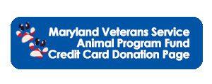 Maryland Veterans Service Animal Program Fund Credit Card Donation Page