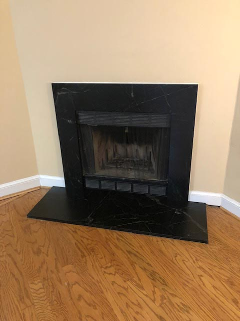 Black fire place