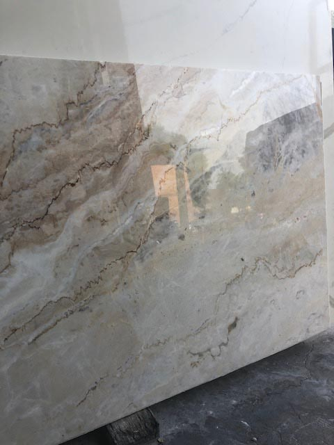 Glossy marble counter top