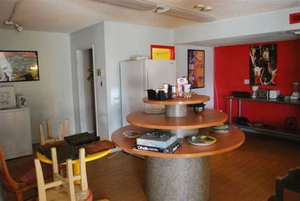 Common area with kitchen/laundry faciliteis