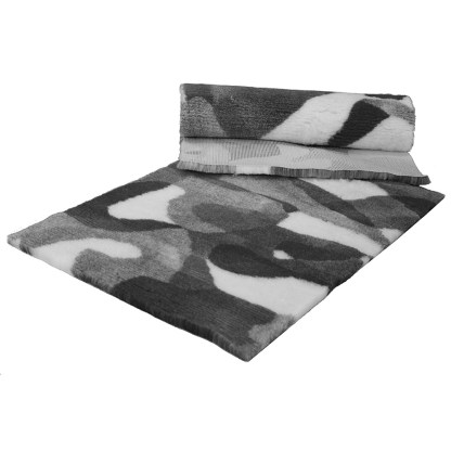 Vetfleece Non-Slip Camoflage Charcoal White