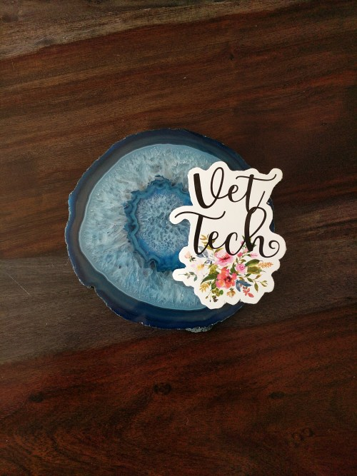 vet tech sticker