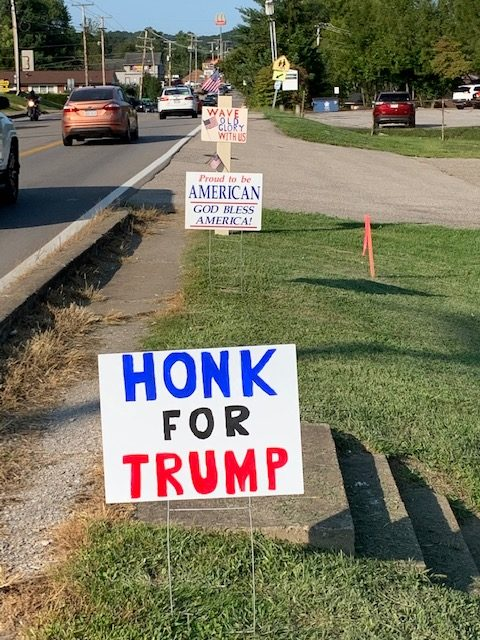 It was a horn honking hour.