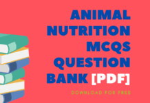 ANIMAL NUTRITION MCQs Question Bank [Pdf]