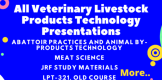 All Veterinary Livestock Products Technology Presentations