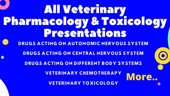 All Veterinary Pharmacology & Toxicology Presentations