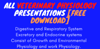 All Veterinary Physiology Presentations [Free Download]