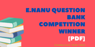 E.Nanu Question Bank Competition Winner