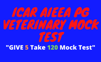 ICAR AIEEA PG Veterinary Mock Test