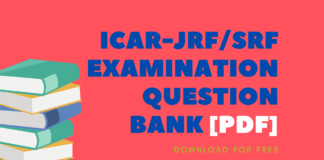 ICAR-JRF_SRF EXAMINATION QUESTION BANK