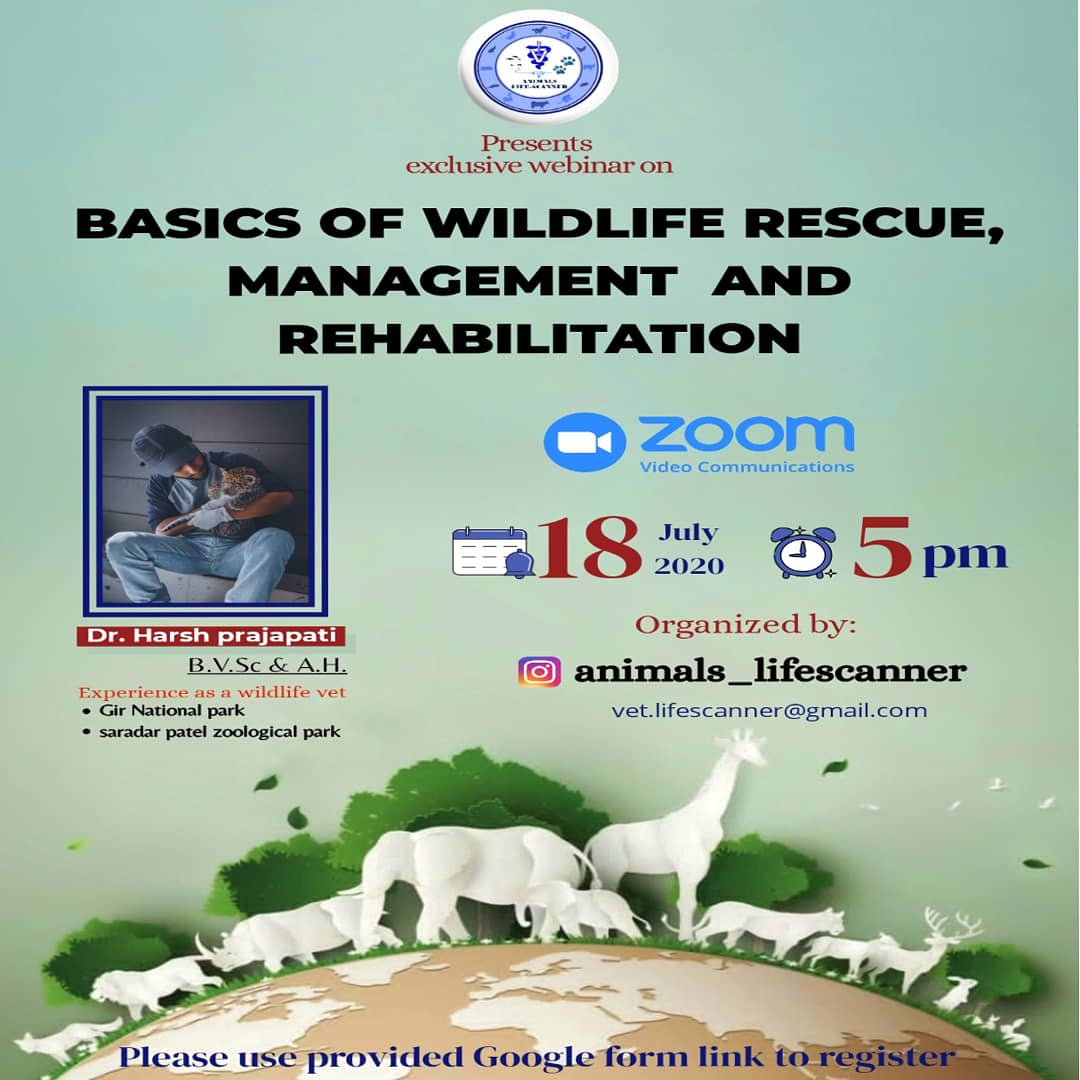 IMG 20200714 101635 991 a1dee3471b3a549fda50d201d6ae4bc3 • BASICS OF WILDLIFE RESCUE, MANAGEMENT AND REHABILITATION
