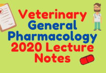 Veterinary General Pharmacology 2020 Lecture Notes pdf