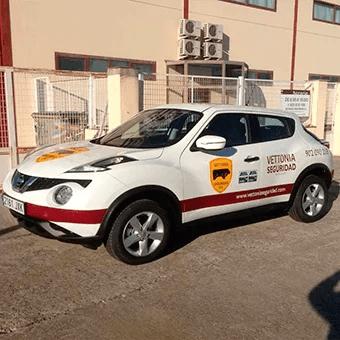 Nuevos vehículos de vigilante de seguridad