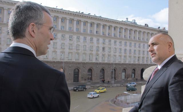Йенс Столтенберг и Бойко Борисов Снимка: Пресцентър на Министерски съвет