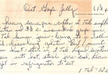 #ramblesandrants; #therecipecollective; diet grape jelly recipe card