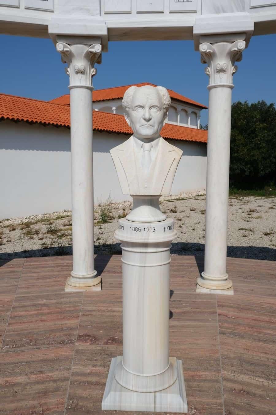 מוזיאון ראלי קיסריה - פסל בן גוריון