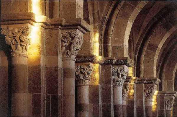 """Carte postale """"Lumière du Solstice d'hiver"""" de la basilique de Vézelay"""