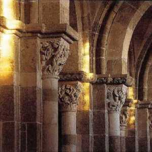 """Postcard """"Light of the Winter Solstice"""" from the basilica of Vézelay"""