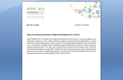 EPK izjava provokacija